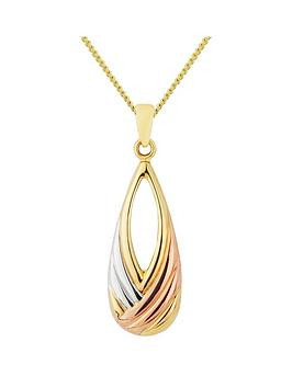 love-gold-9ct-yellow-gold-and-white-and-rose-rhodium-twist-peardrop-pendant