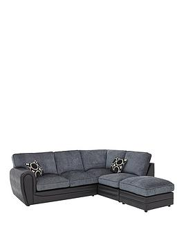 Very Bardot Right-Hand Standard Back Corner Chaise Sofa + Footstool Picture