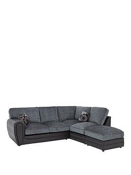 Marrakesh Right Hand Single Arm Standard Back Corner Group Sofa Footstool Littlewoods