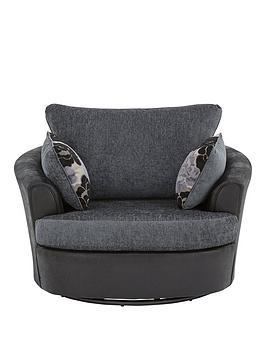 Very Monico Fabric Swivel Chair Picture