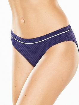 V By Very Textured Bikini Brief  Navy