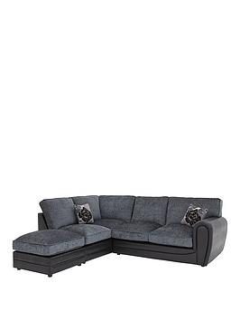 Very Monico Left Hand Single Arm Standard Back Corner Chaise Sofa +  ... Picture