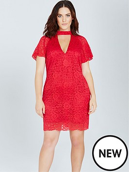 girls-on-film-curve-choker-neck-lace-dress-red