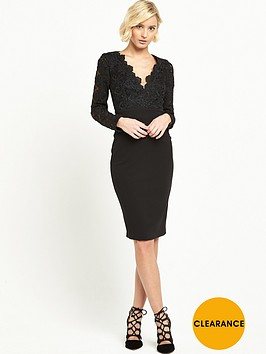 river-island-lace-plunge-pencil-dress-black