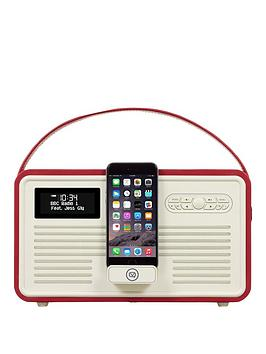 view-quest-retro-mk-ii-dab-bluetooth-wireless-radio-red