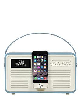 View Quest Retro Mk Ii Dab Bluetooth Wireless Radio  Red