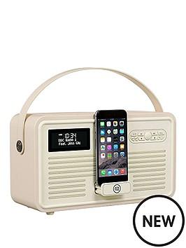view-quest-retro-mkii-dab-bluetooth-wireless-radio-cream