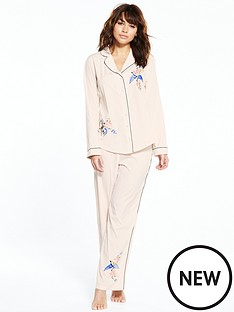 river-island-bird-embroidered-pj-shirt