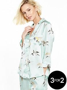 river-island-heron-print-pyjama-shirt
