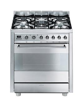 Smeg C7Gpx8  Symphony 70Cm Single Oven Dual Fuel Mini Range Cooker