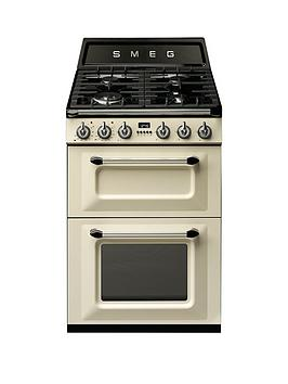 Smeg Tr62P Victoria 60Cm 2 Cavity Dual Fuel Mini Range Cooker  Cream
