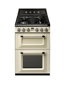 Smeg Tr62P Victoria 60Cm 2 Cavity Dual Fuel Mini Range Cooker  Cream