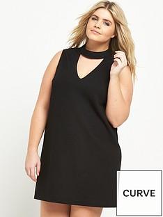 ax-paris-curve-cut-out-shift-dress-black