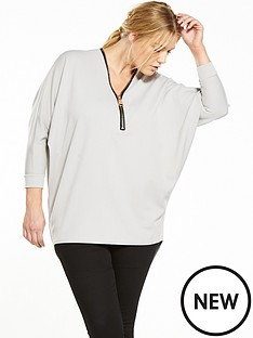 ax-paris-curve-zip-front-tunic-grey
