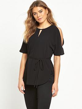 ax-paris-tie-waist-blouse-black