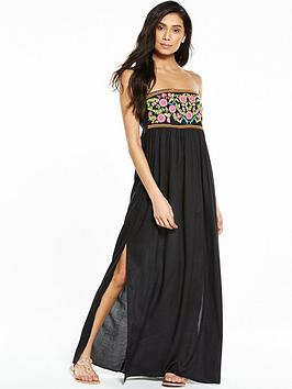 V By Very Embroidered Beach Maxi Dress