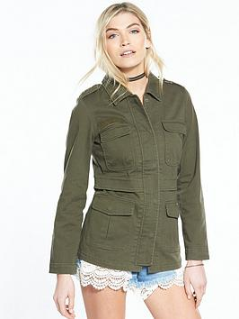 V By Very Fitted Army Shacket