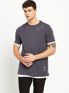 river-island-distressed-double-layer-tshirt