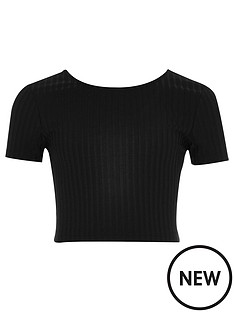 river-island-girls-black-ribbed-crop-top
