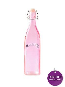 kilner-set-of-3-cliptop-1-litre-bottles-in-pink
