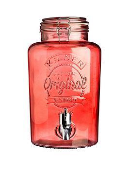 kilner-5-litre-drinks-dispenser-red