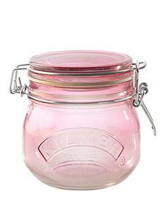 kilner-set-of-3-05-litre-round-clip-top-storage-jars-innbsppink