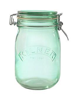 kilner-kilner-3-piece-1-litre-clip-jar-set-green