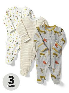mamas-papas-baby-boys-animal-sleepsuits-3-pack