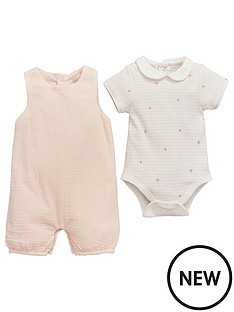 mamas-papas-flroal-tee-and-dungaree-set