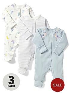 mamas-papas-baby-girls-birds-sleepsuits-3-pack