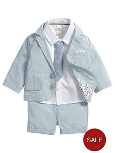 mamas-papas-baby-boys-blazer-shorts-shirt-and-tie-set-4-piece