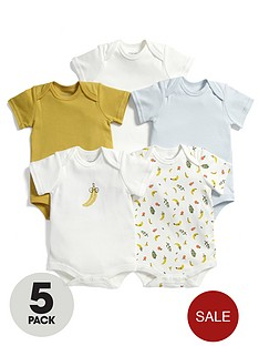 mamas-papas-baby-boys-fruit-bodysuits-5-pack