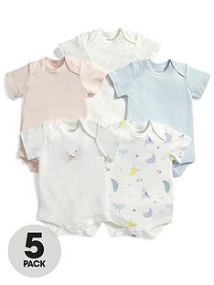 mamas-papas-baby-girls-birds-bodysuits-5-pack