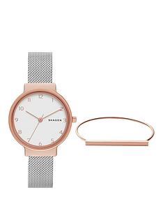 skagen-ancher-watch-amp-anette-bracelet-ladies-gift-set