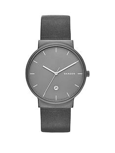 skagen-ancher-black-date-dial-black-leather-strap-mens-watch
