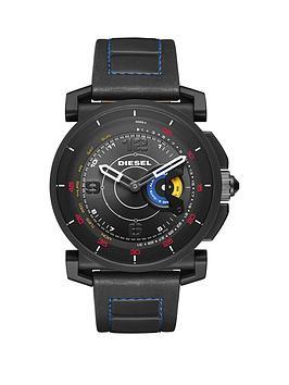 Diesel On Dzt1001 Black Dial Black Silicone Strap Smart Watch