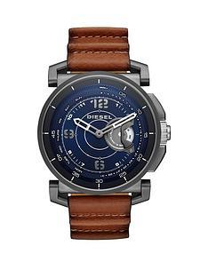 diesel-on-dzt1003-blue-dial-tan-strap-smart-watch