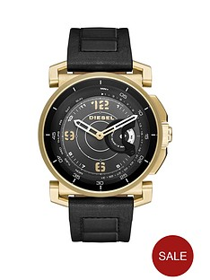 diesel-on-dzt1004-black-dial-gold-tone-case-mens-smart-watch
