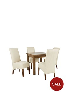 new-square-to-rectangle-extending-dining-table-amp-4-new-eternity-chairs-buy-and-save
