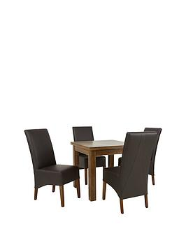 Square To Rectangle Extending Dining Table  4 New Eternity Chairs