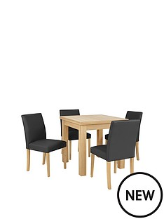 new-square-to-rectangle-extending-dining-table-amp-4-lucca-chairs-buy-and-save