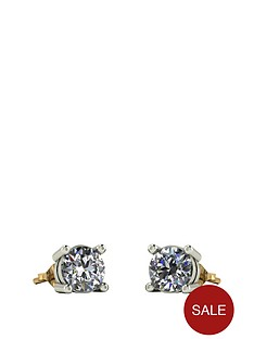moissanite-9ct-gold-1-caratnbsp5mm-earrings