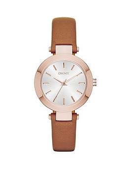 dkny-stanhope-tan-leather-strap-ladies-watch