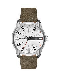 diesel-diesel-armbar-white-dial-khaki-strap-mens-watch