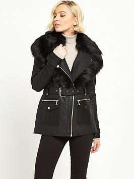 river-island-punbspbelted-jacket-black