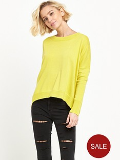 river-island-high-low-hem-jumper-olive