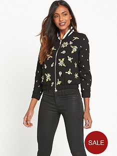 river-island-embellished-bomber-jacket-blackyellow