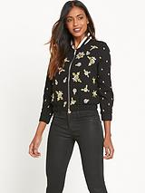 River Island Embellished Bomber Jacket