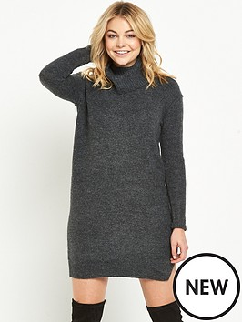 river-island-knitted-cowl-neck-jumper-dress