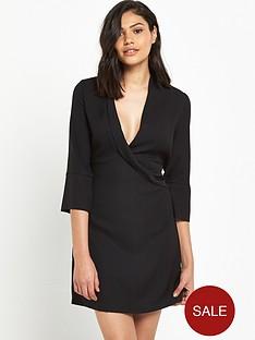 river-island-river-island-black-long-sleeved-wrap-front-shirt-dress